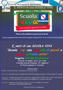 Progetto scuola viva_ pubblicizzazione